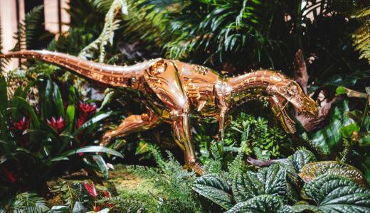 【日本発→バンコク】アートなビッグバン!?AMKK(東信)の花隕石と空山基のティラノサウルスが出現
