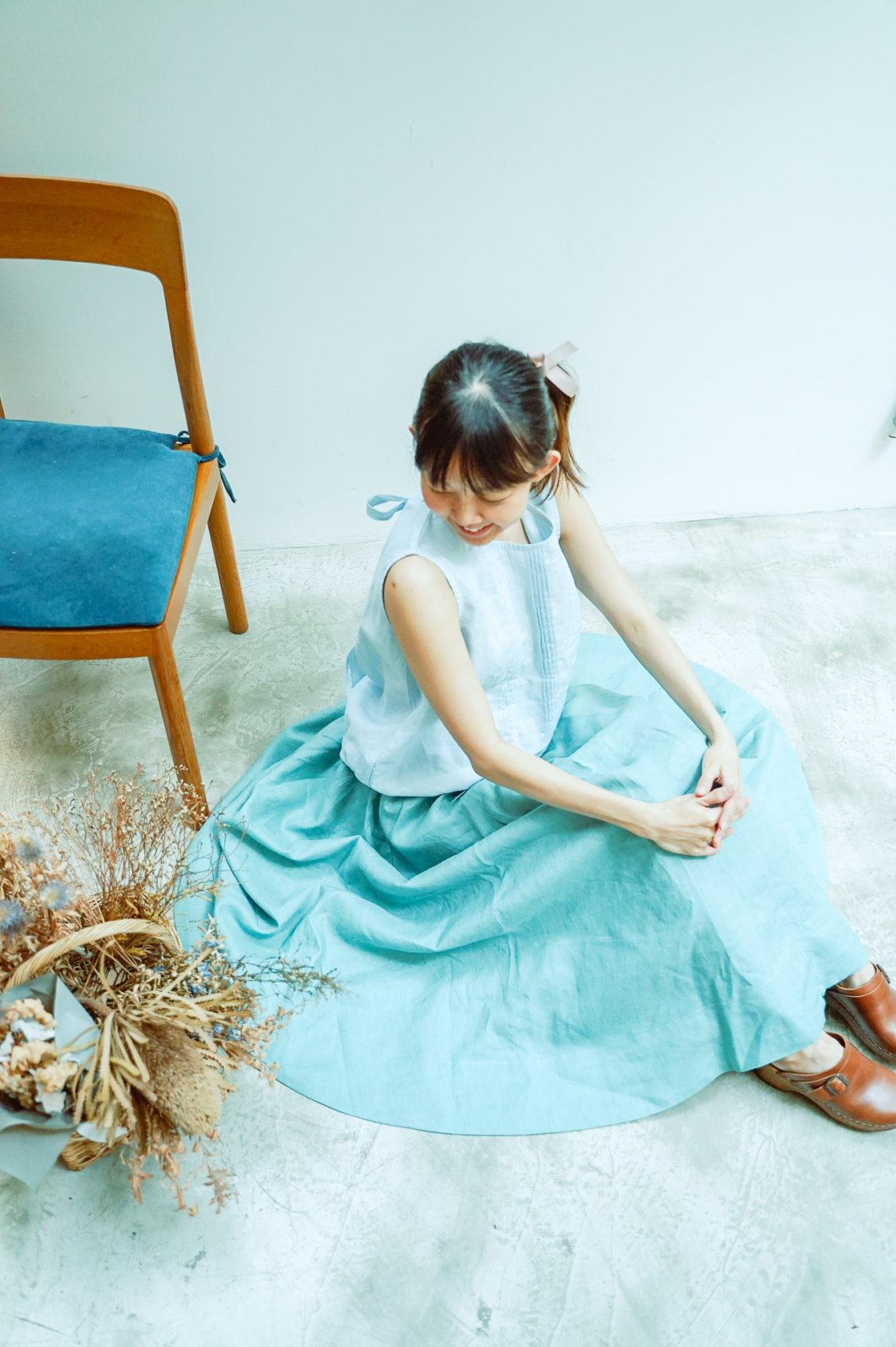 大人に似合う春色のリネン。「Atelier Fuwari アトリエふわり」展示会